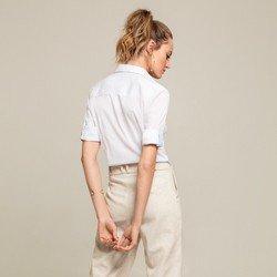 camisa 3 4 branca julie modelagem