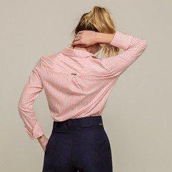camisa listrada punho gode valentina modelagem