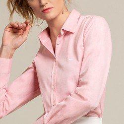 camisa social rosa blanca detalhes