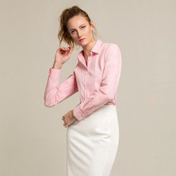 camisa social rosa blanca geral