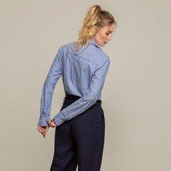 camisa listrada azul laura modelagem
