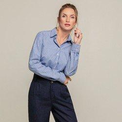 camisa listrada azul laura geral