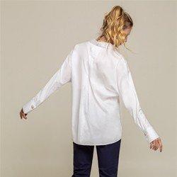 camisa modelo t branca ella tecido