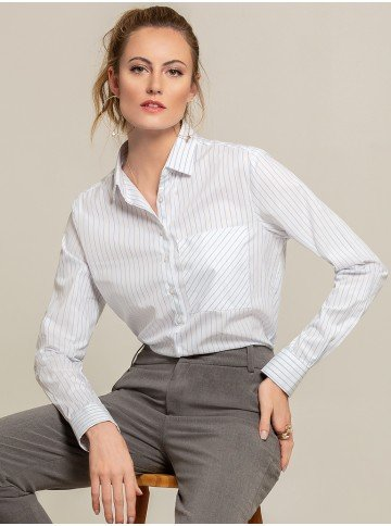 camisa listrada bolso gleice frente