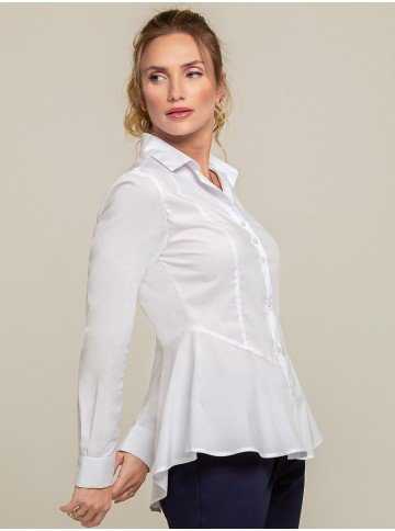 camisa peplum branca sienna frente