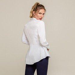 camisa peplum branca sienna modelagem