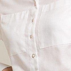 camisa branca lenna botoes
