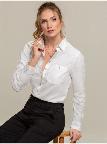 camisa oxford branca nancy frente