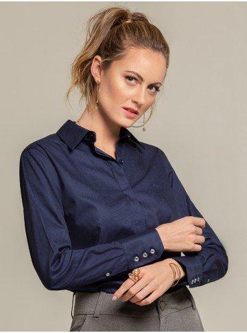 camisa maquinetada marinho anabela frente