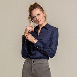 camisa maquinetada marinho anabela geral