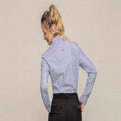 camisa listrada com pregas blaire modelagem
