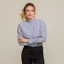 camisa listrada com pregas blaire geral