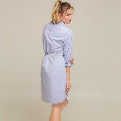 vestido oxford azul charlote botao modelagem