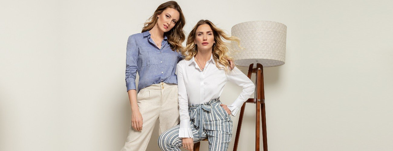 camisa azul jeans larissa conceito banner