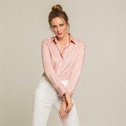 camisa social rose amber classica