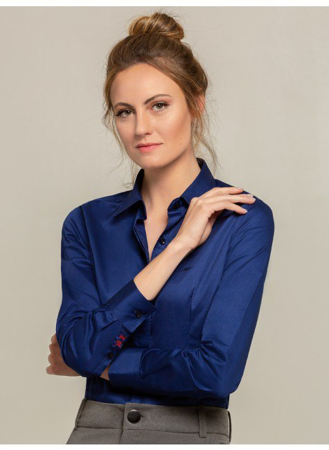 camisa social azul arabella frente