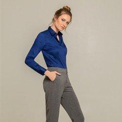 camisa social azul arabella classica
