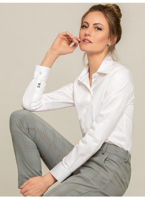 camisa social branca ava frente