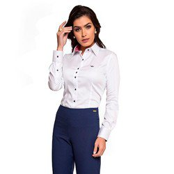 camisa social branca nalva geral