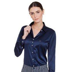 camisa social marinho de cetim jussara geral