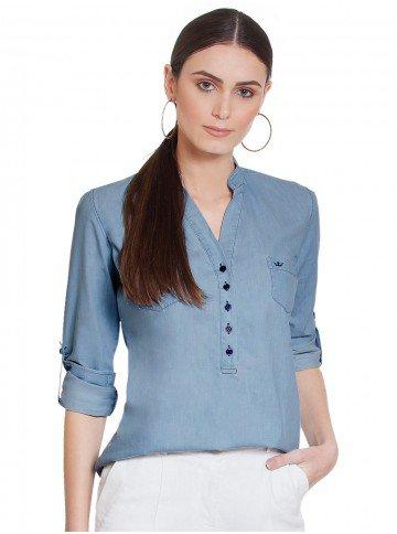 blusa jeans azul desiree frente