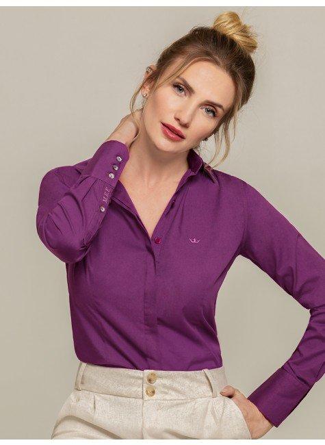 camisa personalizada violeta donatella frente