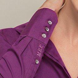 camisa personalizada violeta donatella obordado