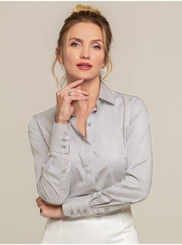 camisa personalizada cinza harper frente