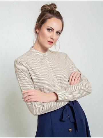 camisa listrada donna frente