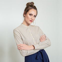 camisa listrada donna design