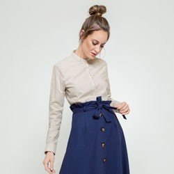 camisa listrada donna geral