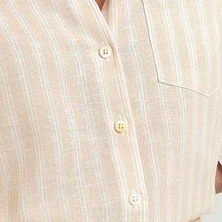 camisa listrada areia virginia aviamentos