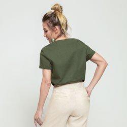 blusa verde militar ayla modelagem