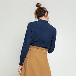 blusa azul marinho april modelagem