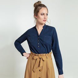 blusa azul marinho april geral