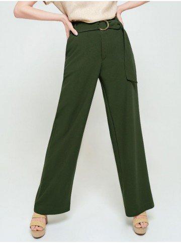 calca pantalona verde olivia frente
