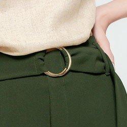 calca pantalona verde olivia aviamento