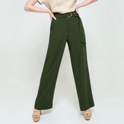 calca pantalona verde olivia modelagem
