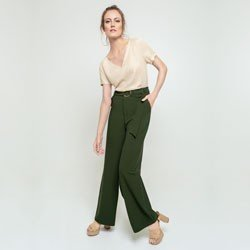 calca pantalona verde olivia geral