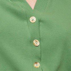 blusa canelada verde maila botoes