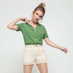 blusa canelada verde maila geral