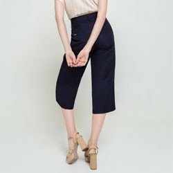 calca pantacourt marinho lupita modelagem