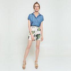 blusa ampla azul lidiane geral