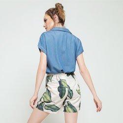 blusa ampla azul lidiane modelagem