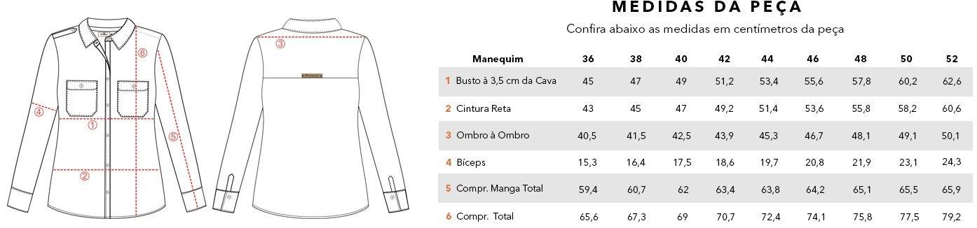 tabela medidas cassia