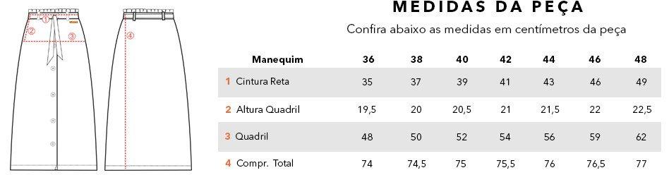 tabela medidas magnolia