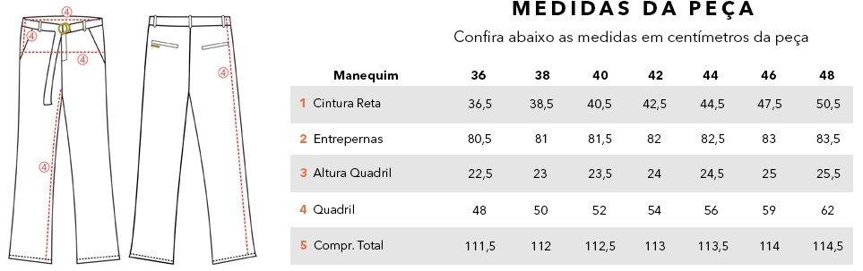tabela medidas olivia