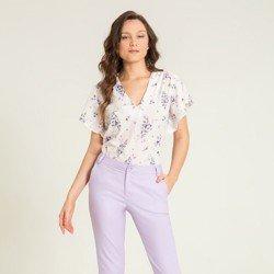 blusa creme floral valery geral