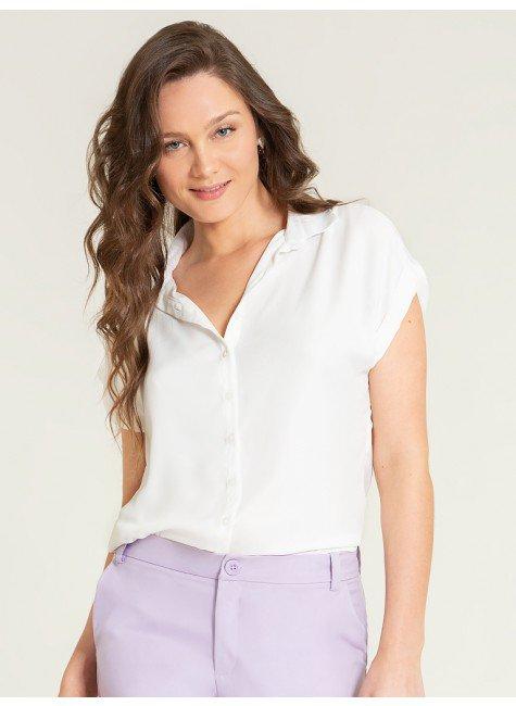 camisa ampla off white makayla frente