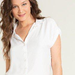 camisa ampla off white makayla tecido detalhes